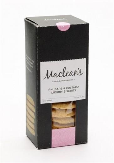 Maclean's Highland Bakery, Rhubarb & Custard Luxury Biscuits 150g