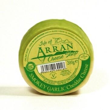 Arran smoked garlic flavoured cheddar cheese